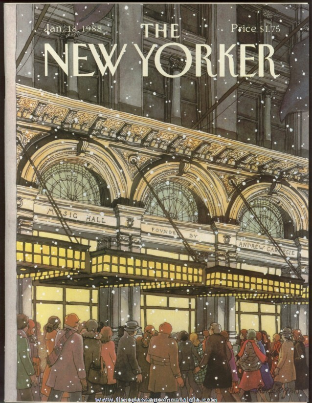 New Yorker Magazine - January 18, 1988 - Cover by Roxie Munro