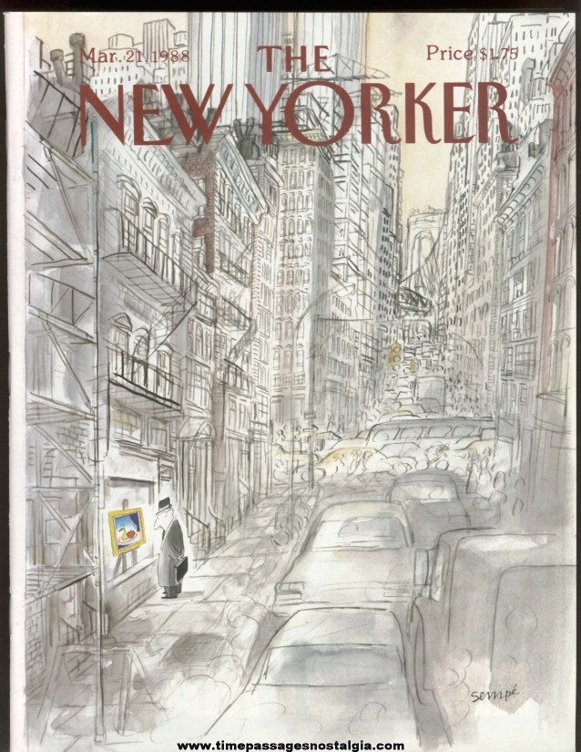New Yorker Magazine - March 21, 1988 - Cover by J. J. Sempe