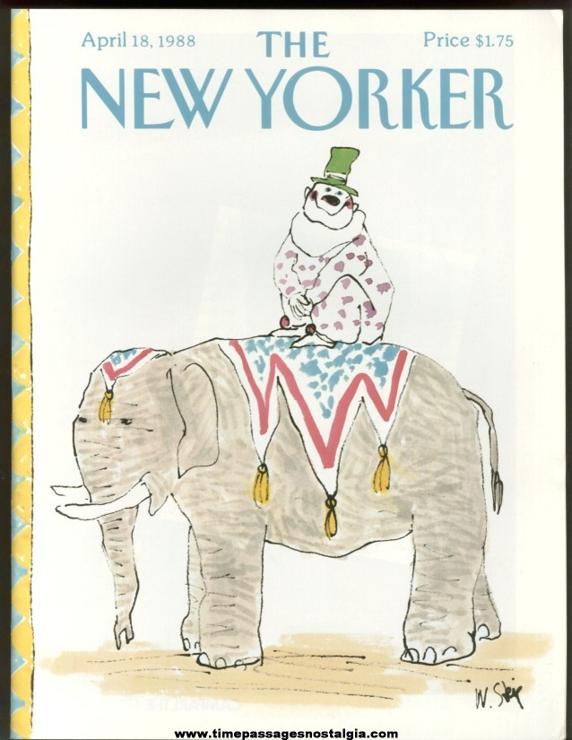 New Yorker Magazine - April 18, 1988 - Cover by William Steig