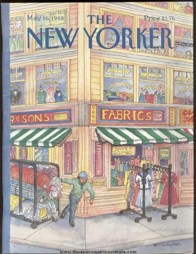 New Yorker Magazine - May 16, 1988 - Cover by Iris Van Rynbach