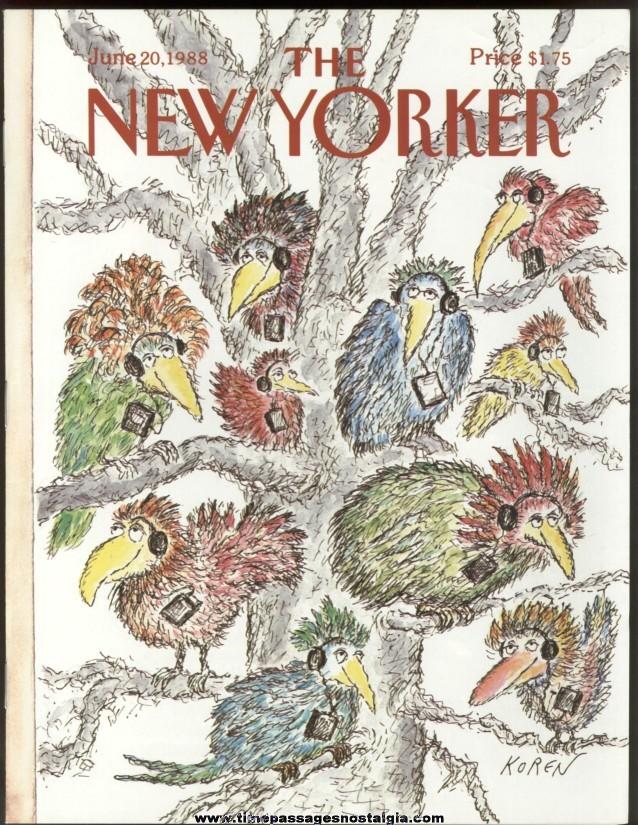 New Yorker Magazine - June 20, 1988 - Cover by Edward Koren