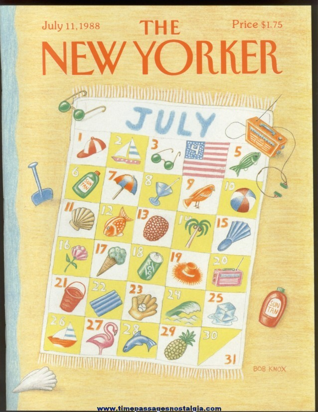 New Yorker Magazine - July 11, 1988 - Cover by Bob Knox