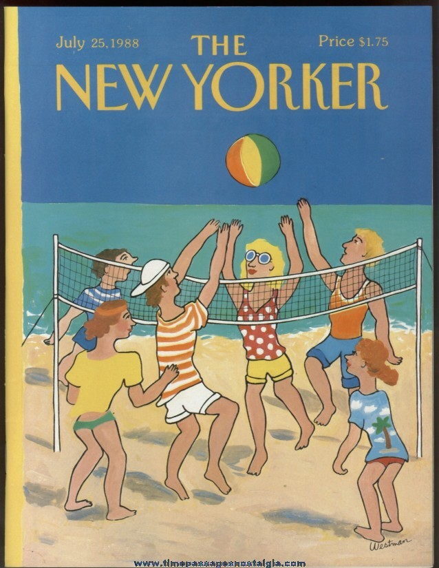 New Yorker Magazine - July 25, 1988 - Cover by Barbara Westman