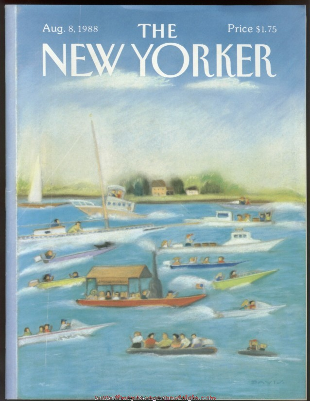 New Yorker Magazine - August 8, 1988 - Cover by Susan Davis
