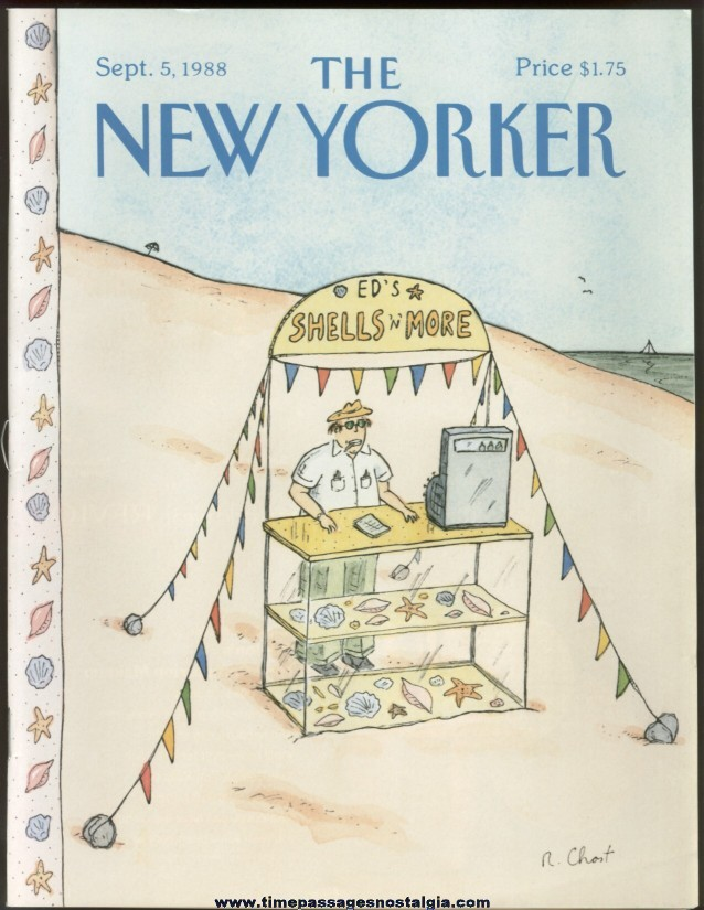 New Yorker Magazine - September 5, 1988 - Cover by Roz Chast