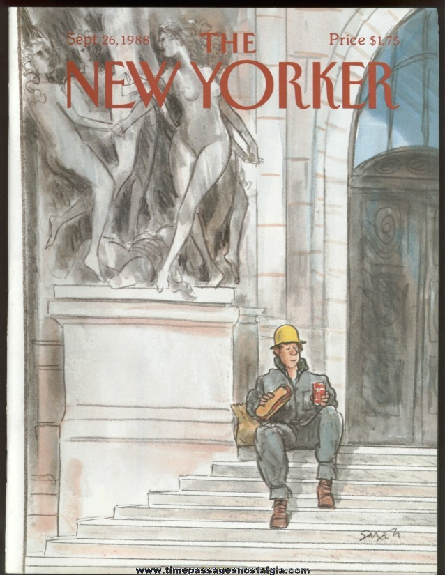 New Yorker Magazine - September 26, 1988 - Cover by Charles Saxon