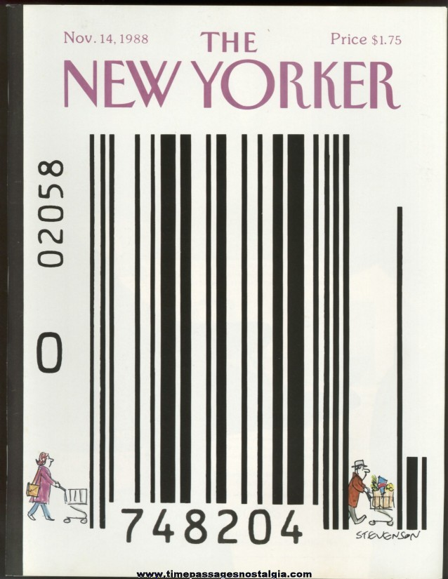 New Yorker Magazine - November 14, 1988 - Cover by James Stevenson