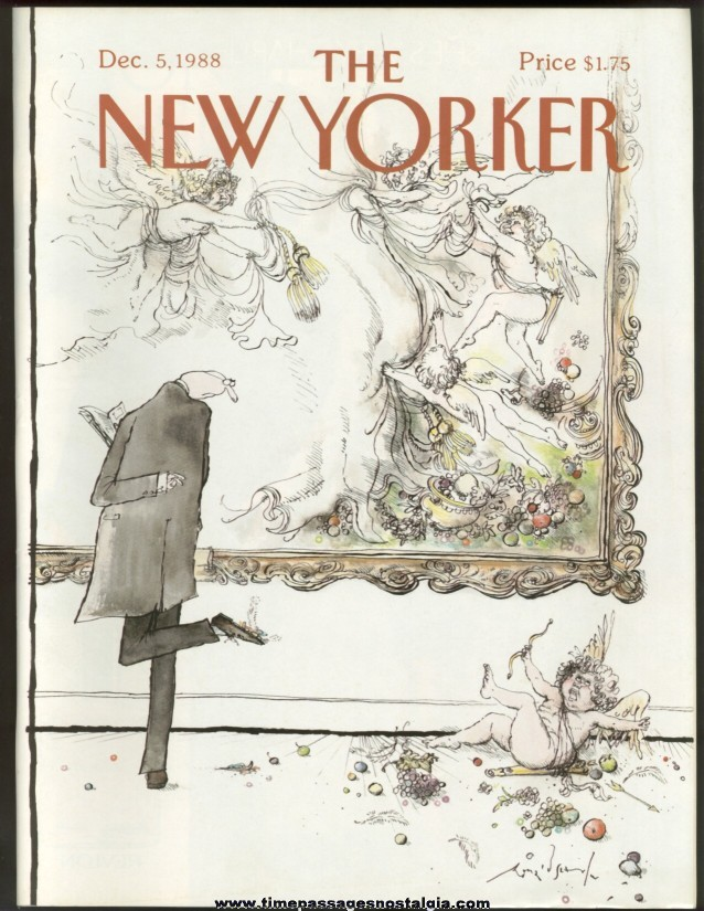New Yorker Magazine - December 5, 1988 - Cover by Ronald Searle