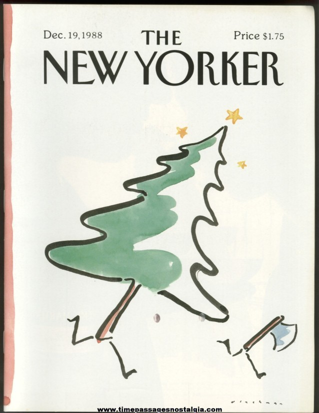 New Yorker Magazine - December 19, 1988 - Cover by R. O. Blechman