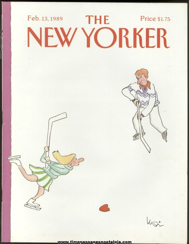 New Yorker Magazine - February 13, 1989 - Cover by Arnie Levin