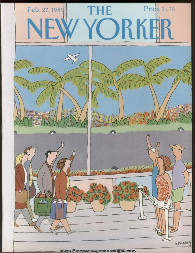 New Yorker Magazine - February 27, 1989 - Cover by Devera Ehrenberg