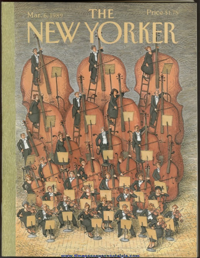 New Yorker Magazine - March 6, 1989 - Cover by John O'Brien