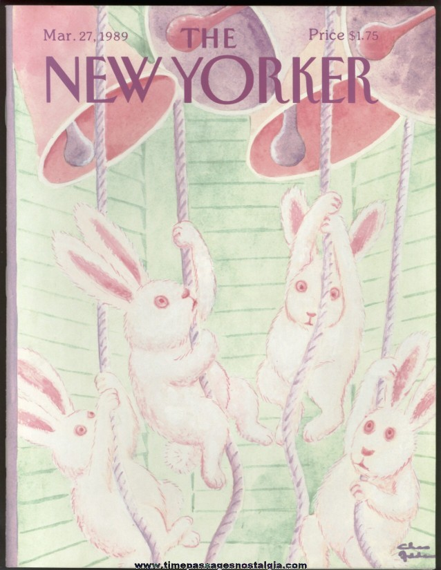 New Yorker Magazine - March 27, 1989 - Cover by Charles (Chas) Addams