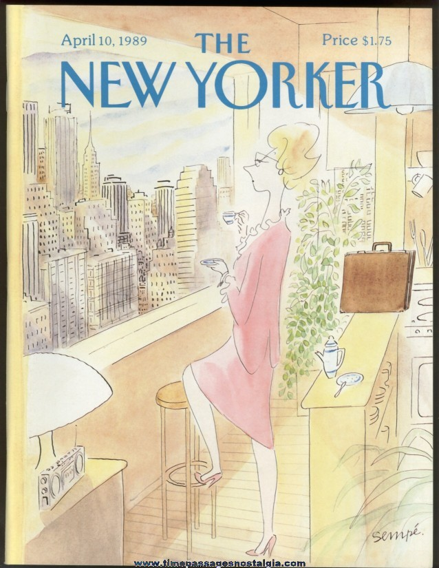 New Yorker Magazine - April 10, 1989 - Cover by J. J. Sempe