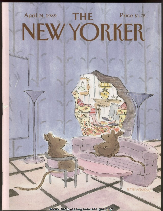 New Yorker Magazine - April 24, 1989 - Cover by James Stevenson