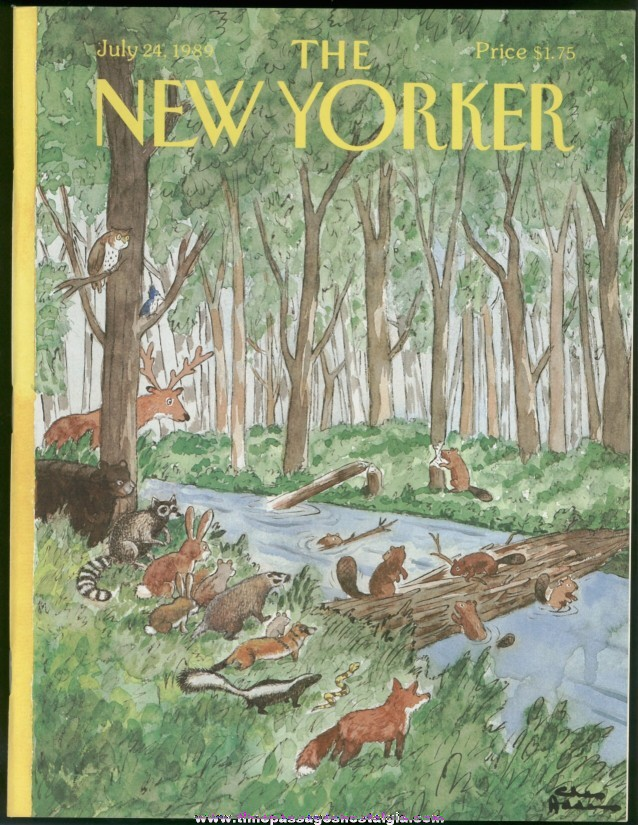 New Yorker Magazine - July 24, 1989 - Cover by Charles (Chas) Addams