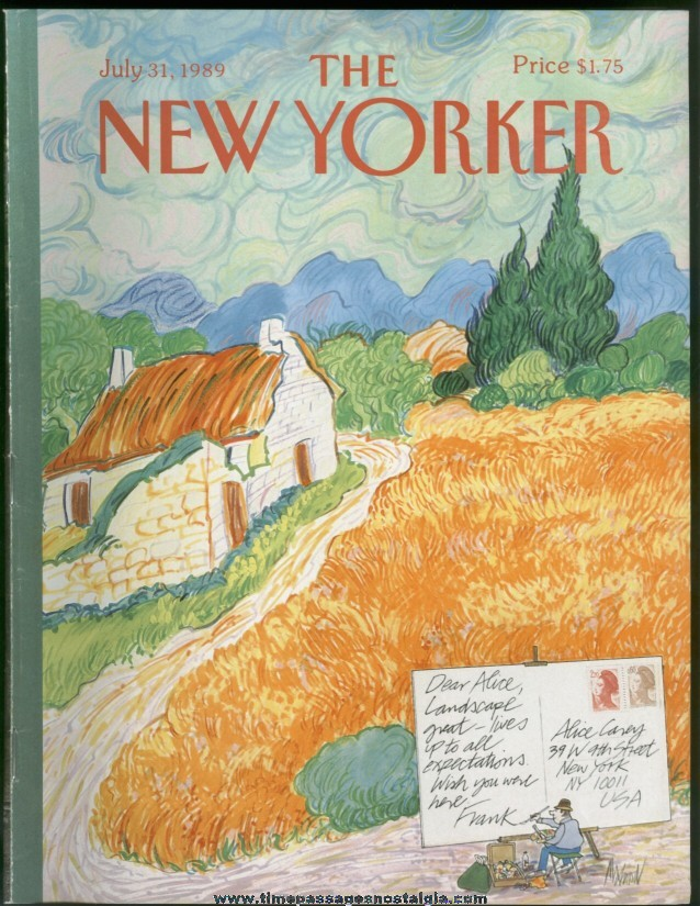 New Yorker Magazine - July 31, 1989 - Cover by Kenneth Mahood