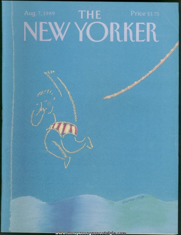 New Yorker Magazine - August 7, 1989 - Cover by Merle Nacht