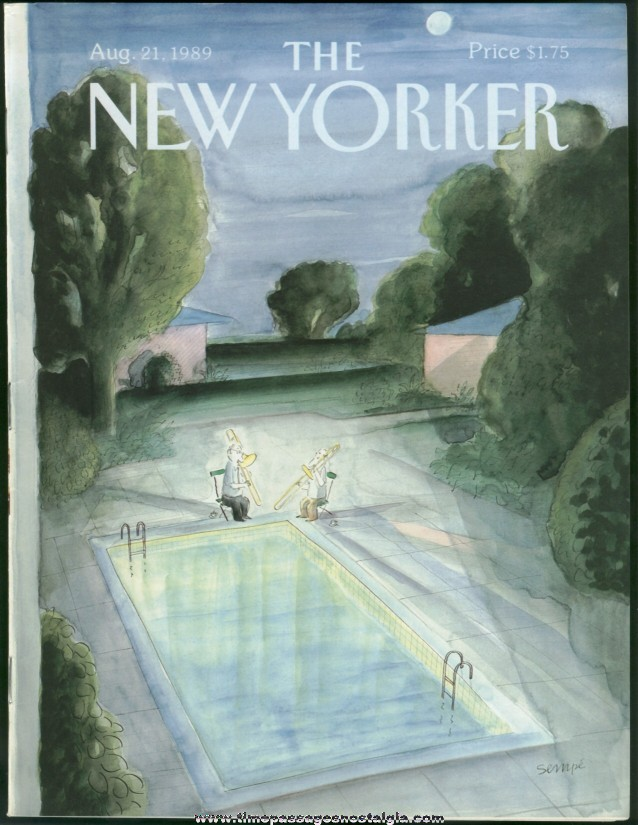 New Yorker Magazine - August 21, 1989 - Cover by J. J. Sempe