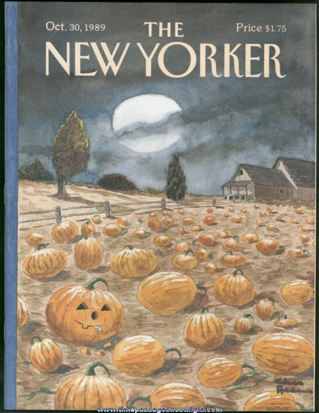 New Yorker Magazine - October 30, 1989 - Cover by Charles (Chas) Addams
