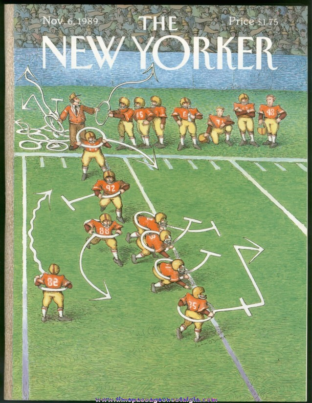 New Yorker Magazine - November 6, 1989 - Cover by John O'Brien