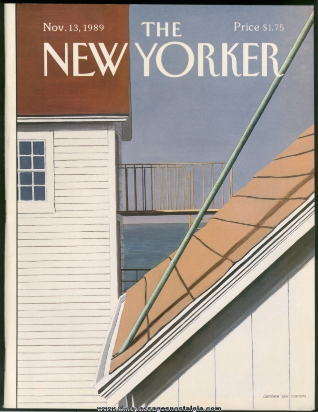 New Yorker Magazine - November 13, 1989 - Cover by Gretchen Dow Simpson