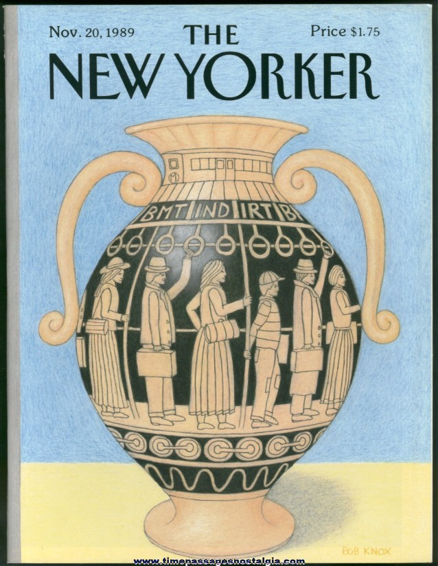 New Yorker Magazine - November 20, 1989 - Cover by Bob Knox