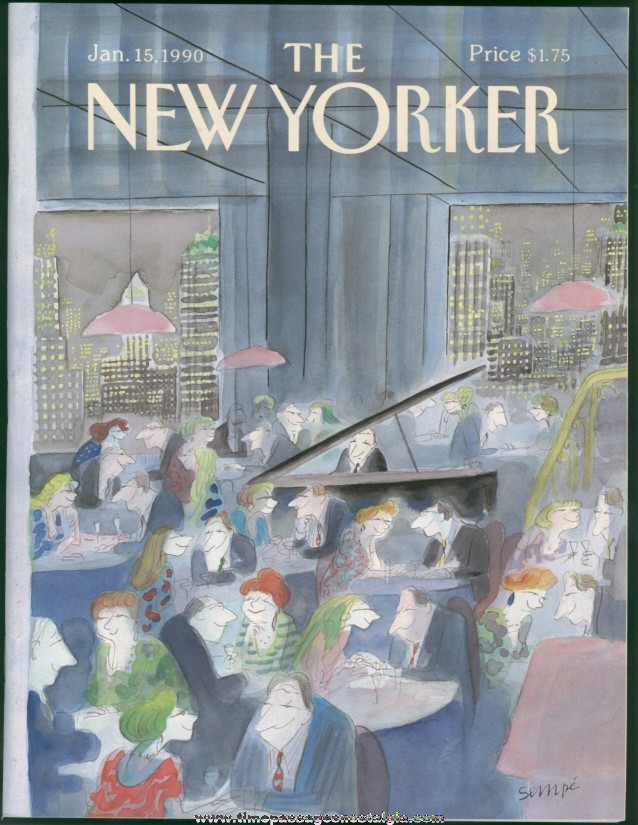 New Yorker Magazine - January 15, 1990 - Cover by J. J. Sempe