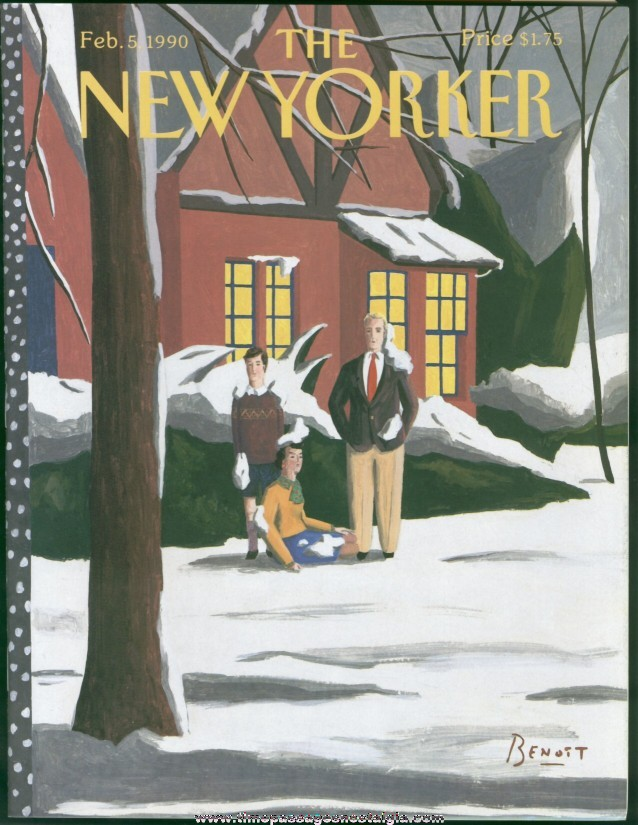 New Yorker Magazine - February 5, 1990 - Cover by Benoit van Innes
