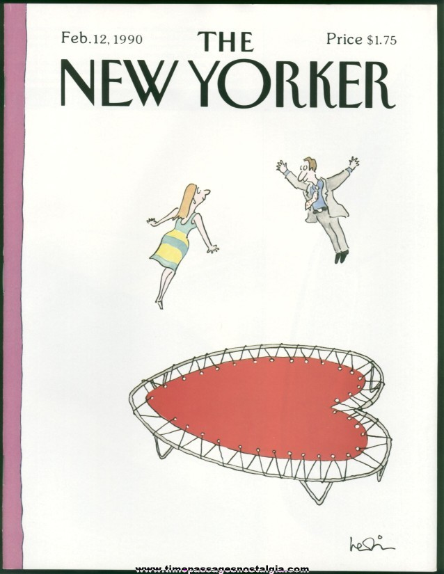 New Yorker Magazine - February 12, 1990 - Cover by Arnie Levin
