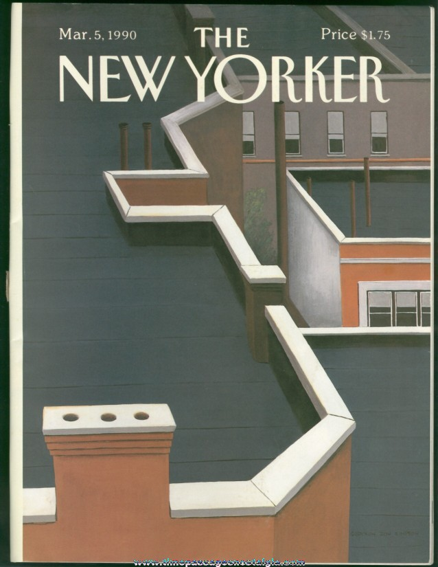 New Yorker Magazine - March 5, 1990 - Cover by Gretchen Dow Simpson