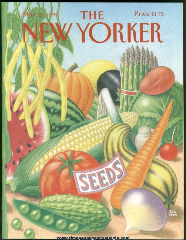 New Yorker Magazine - March 26, 1990 - Cover by Bob Knox