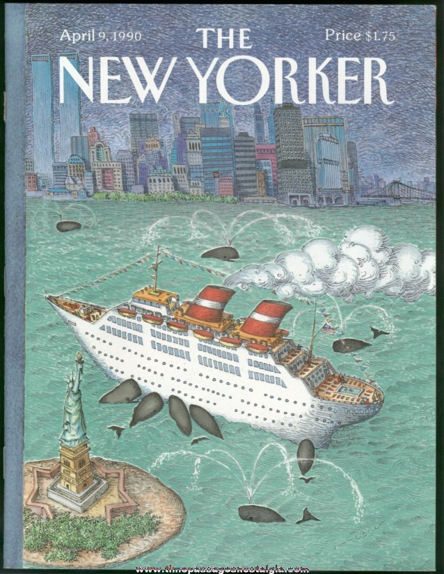 New Yorker Magazine - April 9, 1990 - Cover by John O'Brien