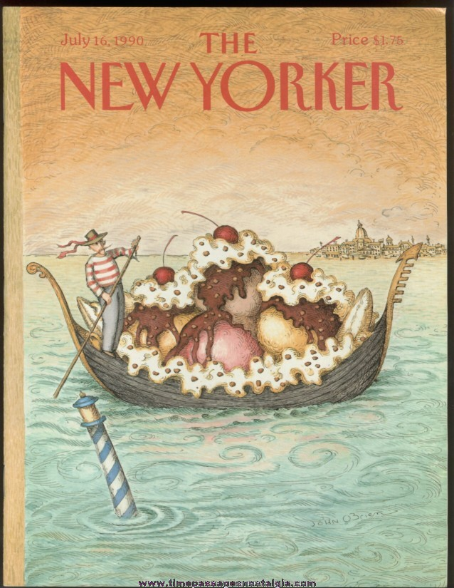 New Yorker Magazine - July 16, 1990 - Cover by John O'Brien