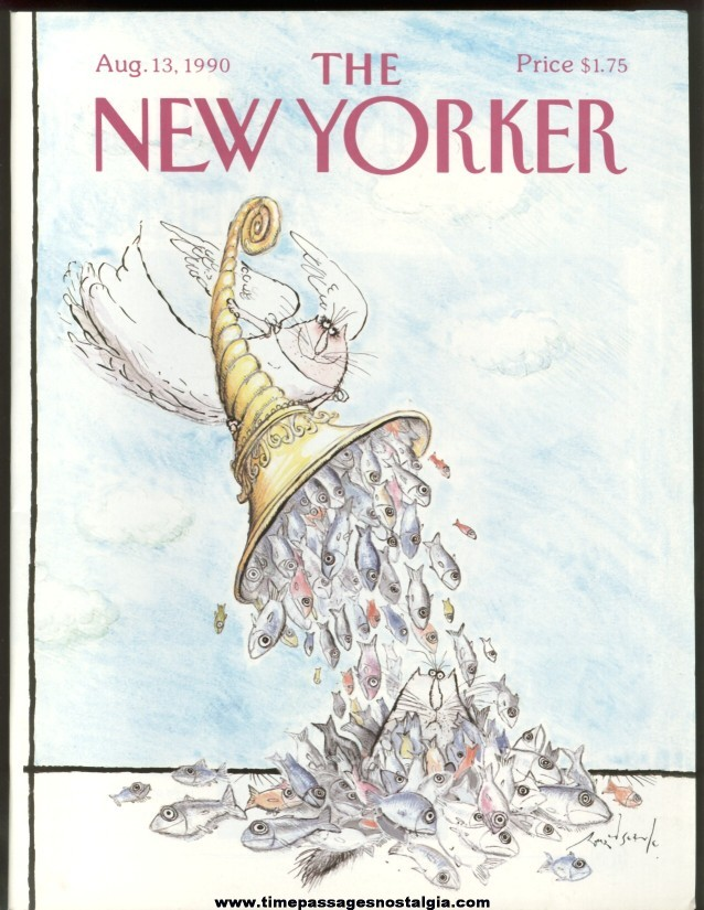 New Yorker Magazine - August 13, 1990 - Cover by Ronald Searle