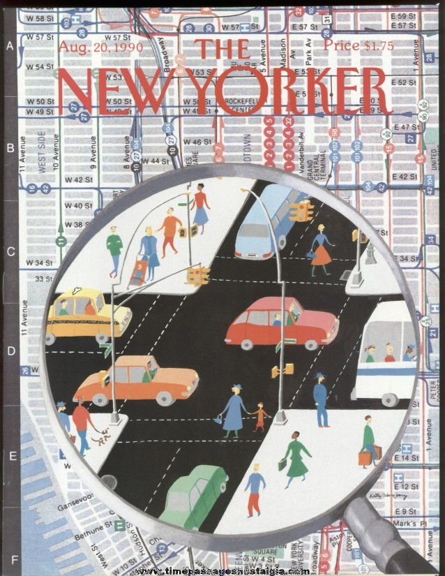 New Yorker Magazine - August 20, 1990 - Cover by Kathy Osborn Young