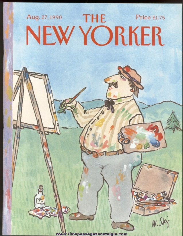New Yorker Magazine - August 27, 1990 - Cover by William Steig