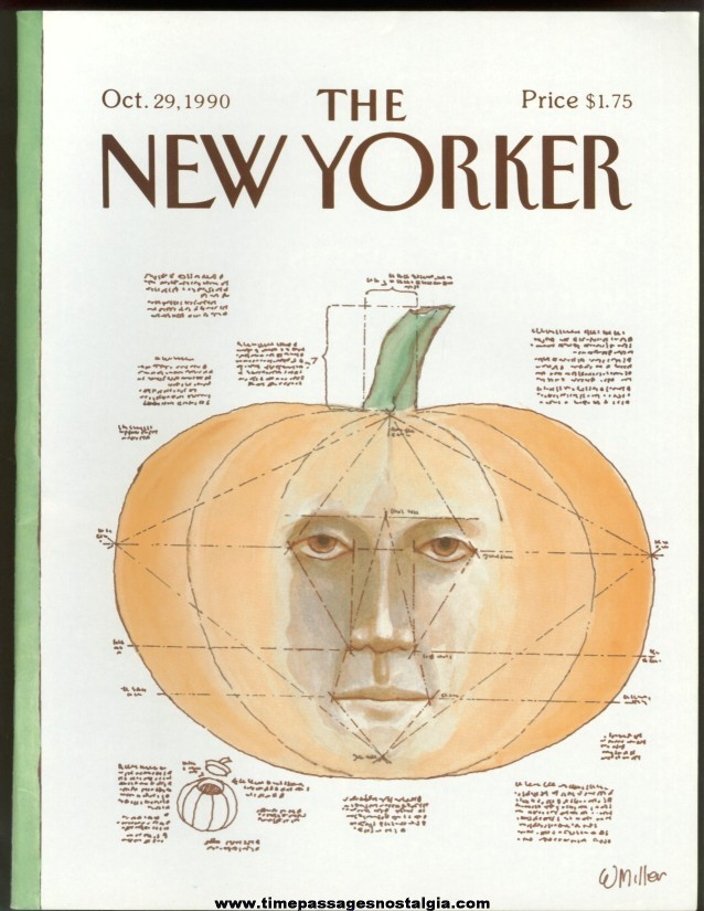 New Yorker Magazine - October 29, 1990 - Cover by Warren Miller