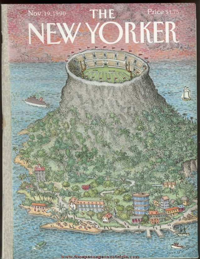 New Yorker Magazine - November 19, 1990 - Cover by John O'Brien