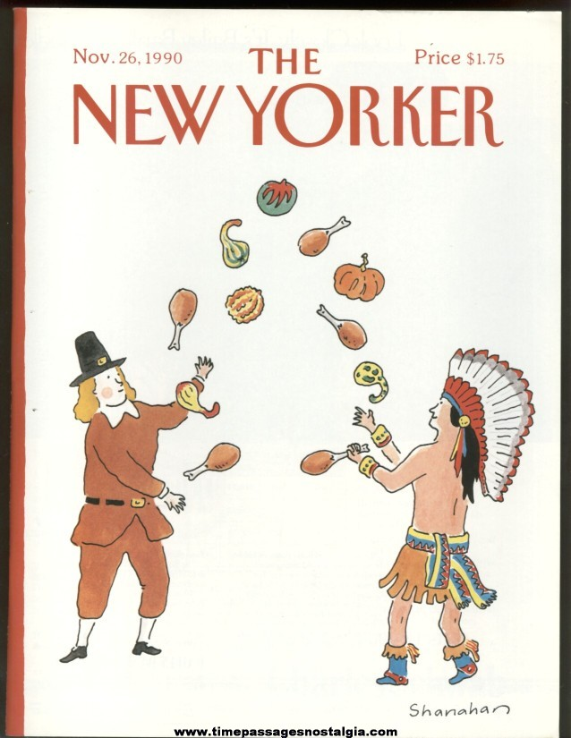 New Yorker Magazine - November 26, 1990 - Cover by Danny Shanahan