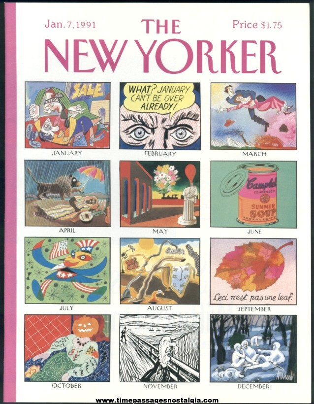 New Yorker Magazine - January 7, 1991 - Cover by Kenneth Mahood