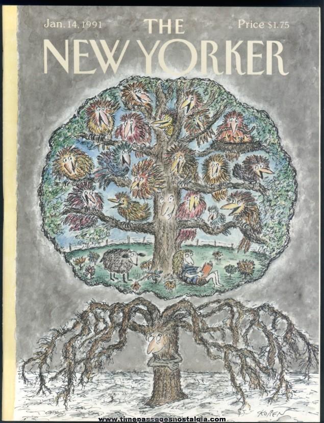 New Yorker Magazine - January 14, 1991 - Cover by Edward Koren