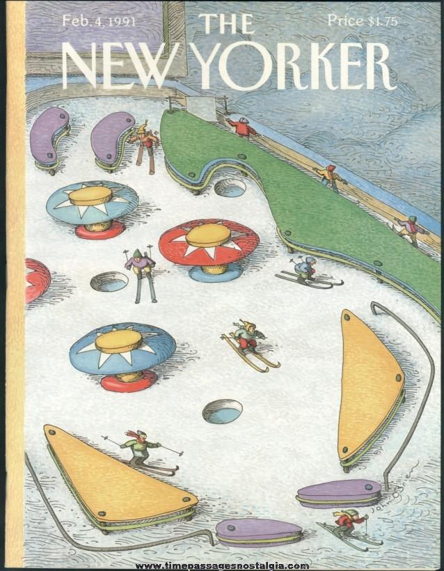New Yorker Magazine - February 4, 1991 - Cover by John O'Brien