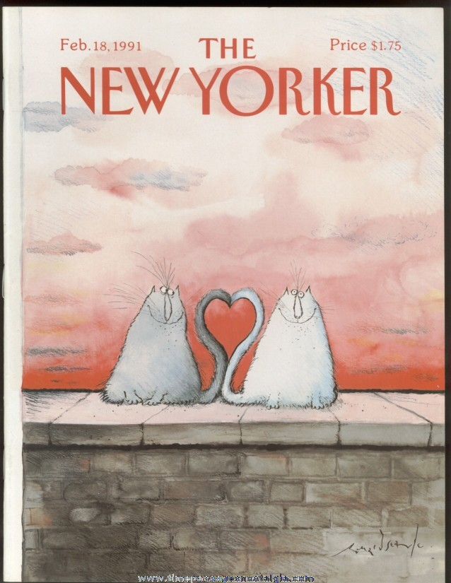 New Yorker Magazine - February 18, 1991 - Cover by Ronald Searle