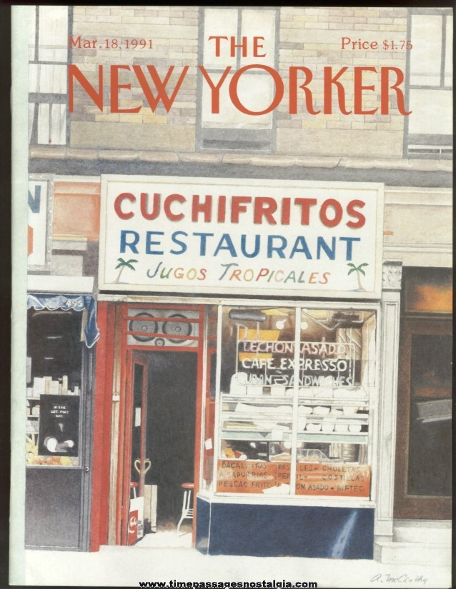 New Yorker Magazine - March 18, 1991 - Cover by Ann McCarthy