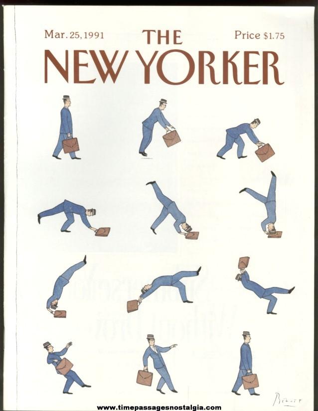 New Yorker Magazine - March 25, 1991 - Cover by Benoit van Innes