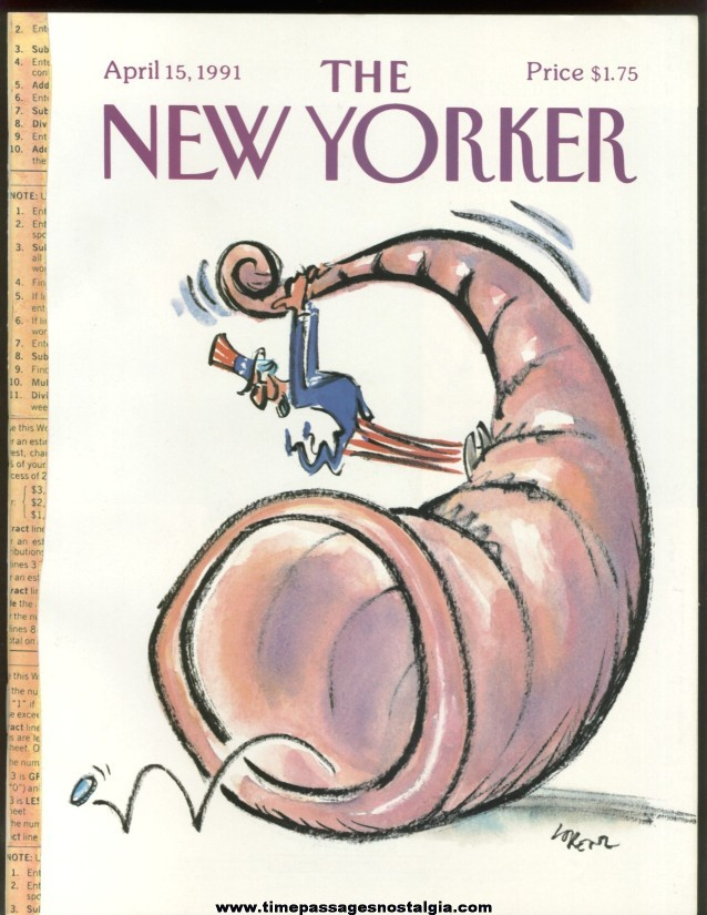 New Yorker Magazine - April 15, 1991 - Cover by Lee Lorenz