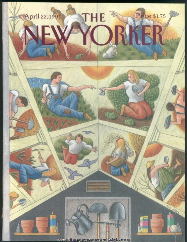 New Yorker Magazine - April 22, 1991 - Cover by Bob Knox