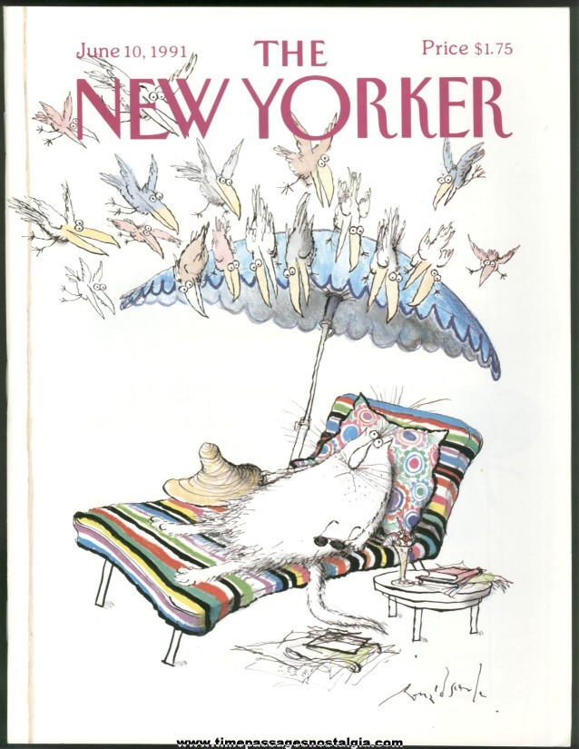 New Yorker Magazine - June 10, 1991 - Cover by Ronald Searle