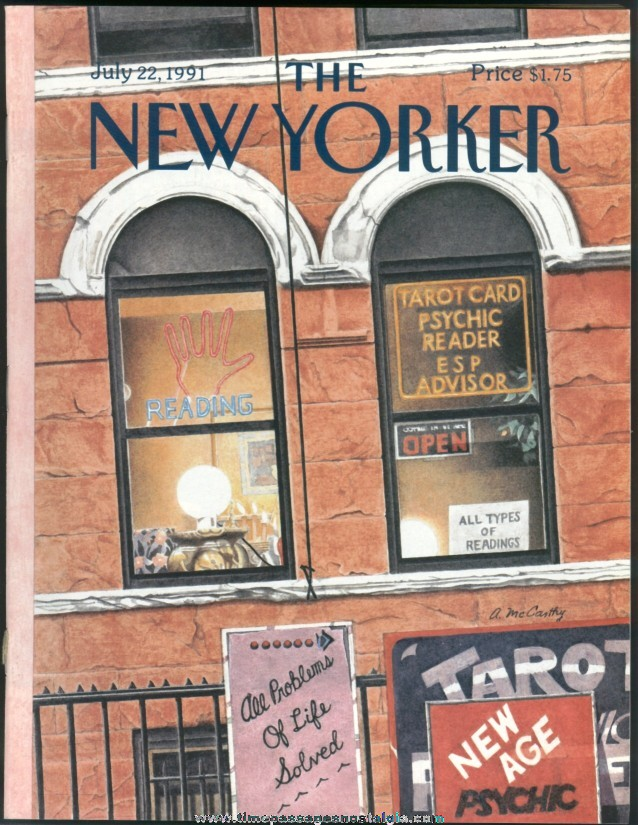 New Yorker Magazine - July 22, 1991 - Cover by Ann McCarthy